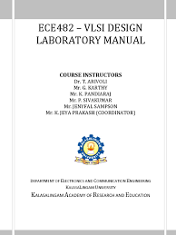 ece482 vlsi lab manual hardware description language vhdl