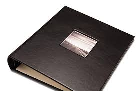 gallery leather photo album black gallery leather c series presentation album