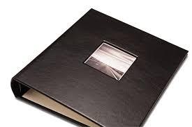 leather picture album black gallery leather c series presentation album