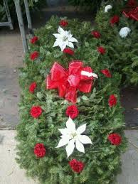 Cemetery Christmas Decorations Cemetery Blankets And Wreaths