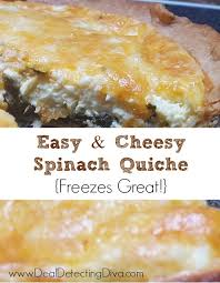 Spinach Quiche With Cottage Cheese by Easy Cheesy Spinach Quiche Recipe Freezes Well Heart Hook Home