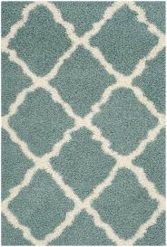 Brown And Turquoise Area Rugs Rug Sgd257c Dallas Shag Area Rugs By Safavieh
