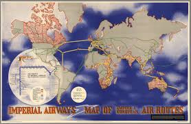 Airline Route Maps by Imperial Airways Map Of Empire U0026 European Air Routes David