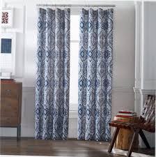 tommy hilfiger prairie paisley blue window curtain panels 50x96 pair