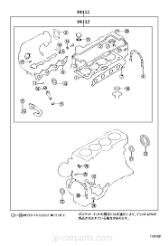engine overhaul gasket kit toyota part list jp carparts com