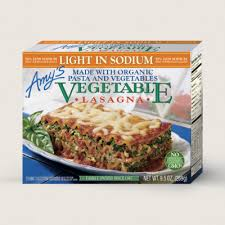 amy u0027s kitchen amy u0027s light in sodium vegetable lasagna