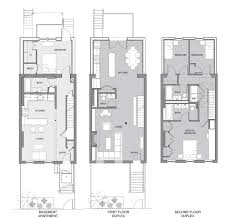 narrow townhouse floor plans single story row house plans twostory plansnarrow jpg 1420 215 869