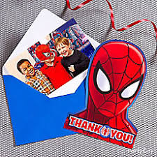 spider man invite with surprise idea invitation and thank you