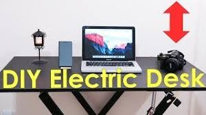 how to make an electric sit and standing desk diy youtube