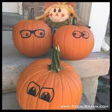 goofy eyes set jack o u0027lantern pumpkin halloween vinyl wall decal