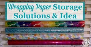 gift wrap storage ideas how to organize wrapping paper gift bags