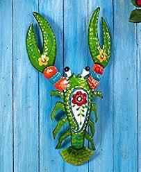 amazon com colorful metal mexican talavera style garden wall art