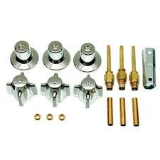 danco central brass 3 handle tub and shower faucet trim kit in