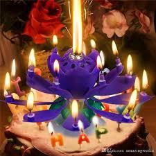 birthday flower cake magical flower happy birthday blossom lotus candle