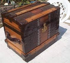 311 all wood roll top restored antique trunk for sale top quality