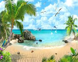 best picture of tropical wallpaper for walls all can download beibehang wallpaper large mural beach landscape decorative painting living room sofa tv kids room mural wallpaper