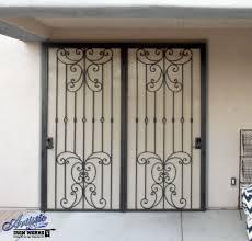 papillion wrought iron security screen door for patio doors
