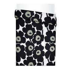 Marimekko Duvet Unikko Black Bedding Luxury Bedding U0026 Bed Linen Bedroom