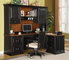 best computer desk design black painted wood computer desk with hutch and storage drawer