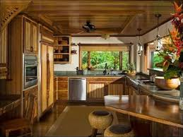 Kitchen Peninsula Cabinets Tropical Kitchen With Flat Panel Cabinets U0026 Ceiling Fan Zillow