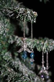 blue icicle ornaments beaded icicles light blue