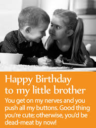 to my loveable brother happy birthday wishes card birthday