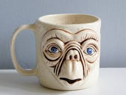 Et Coffee 1980s et coffee mug cup ceramic 3d handmade mug scifi