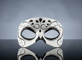 Day Of The Dead White Day Of The Dead Swirl Black And White Leather Mask Unisex