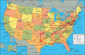 map of usa with compass connecting disasters freemason geometry