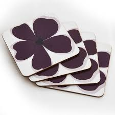 Wilko Garden Furniture Wilko Table Coasters Set Purple Meadow X 4 At Wilko Com Kitchen