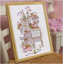 bucilla baby counted cross stitch crib ensembles fairytale