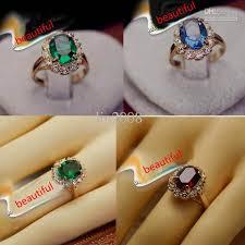 stone finger rings images 2018 elegant square simulated emerald gemstone wedding ring 18k jpg