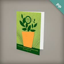 single sided small eco greeting card with shape plantable seed