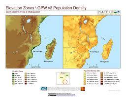 africa map elevation maps population landscape and climate estimates place v2