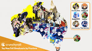 Australia Time Zone Map by Crunchyroll Feature Crunchyroll U0027s Most Popular Fall Anime By