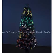 partyngifts 3ft 90cm led fibre optic tree with snow