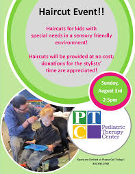 sensory friendly haircut event pediatric therapy center
