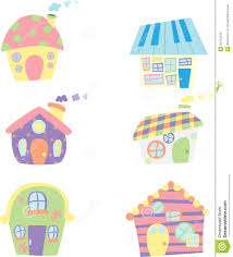 cute houses icons stock photo image 22740340