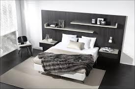 Headboard Nightstand Attached Bedroom Marvelous Headboard With Nightstand Attached With Regard