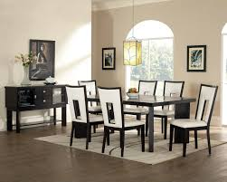 Mounted Small Dining Room Tables And White Modern Chairs In A - Types of dining room chairs