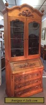 secretary desk with bookcase antique victorian burl walnut secretary desk bookcase cabinet