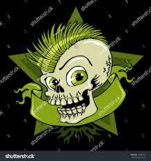 vector illustration boy skull green color stock vector 125853320