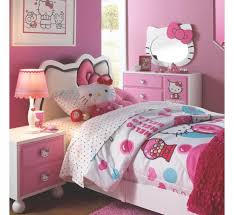 Bedroom Furniture For Little Girls by Little Bedroom With White Furniture And Hello Kitty Bedding