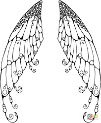 angel wing coloring page kids coloring