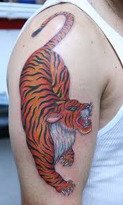 colors tiger on arm tattoomagz