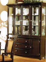 Black China Cabinet Hutch by China Cabinet Buffet Hutch In Brown Cherry Finish Acme Furniture