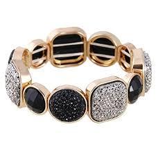 black bracelet with gold images Black and gold bracelet jpg