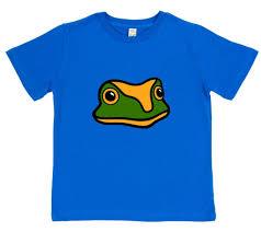 kids frog t shirt organic cotton paw prints london