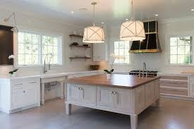 square kitchen island square kitchen island with white pleated drum pendant lights