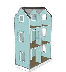 Free Barbie Dollhouse Furniture Plans by Ana White Build A Three Story American Or 18
